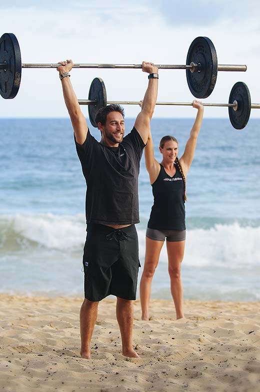 Strenth training and weightlifting with CrossFit Hi Impact on Shipwrecks Beach, Poipu